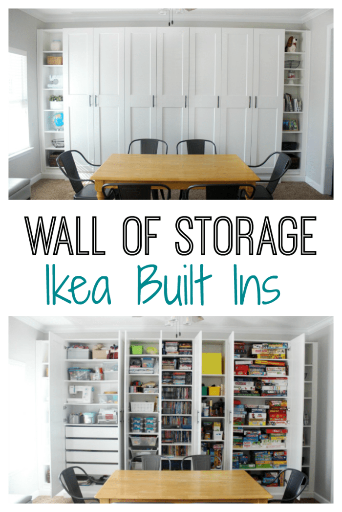 How To Build Your Own Wall Of Storage Using Ikea Built Ins