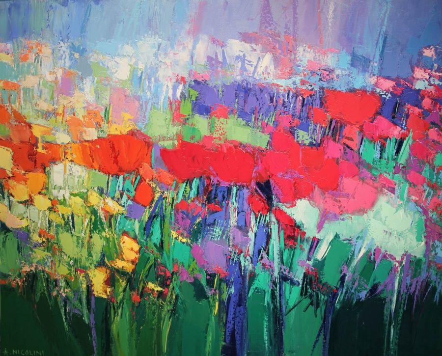 Flowers peintures abstraites pinterest aquarelle for Jardin katerina