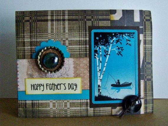 Fathers Day card Happy Fathers Day greeting Father son