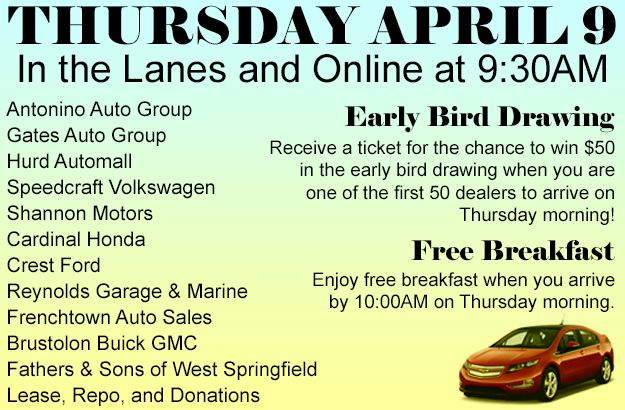Check out the pre-sale list for this Thursday's auction at www.osautoauction.com