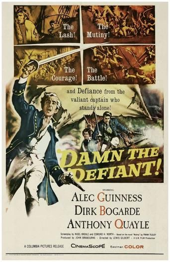 H.M.S. Defiant (1962) | http://www.getgrandmovies.top/movies/36307-h.m.s.-defiant | Defiant's crew is part of a fleet-wide movement to present a petition of grievances to the Admiralty. Violence must be no part of it. The continual sadism of Defiant's first officer makes this difficult, and when the captain is disabled, the chance for violence increases.