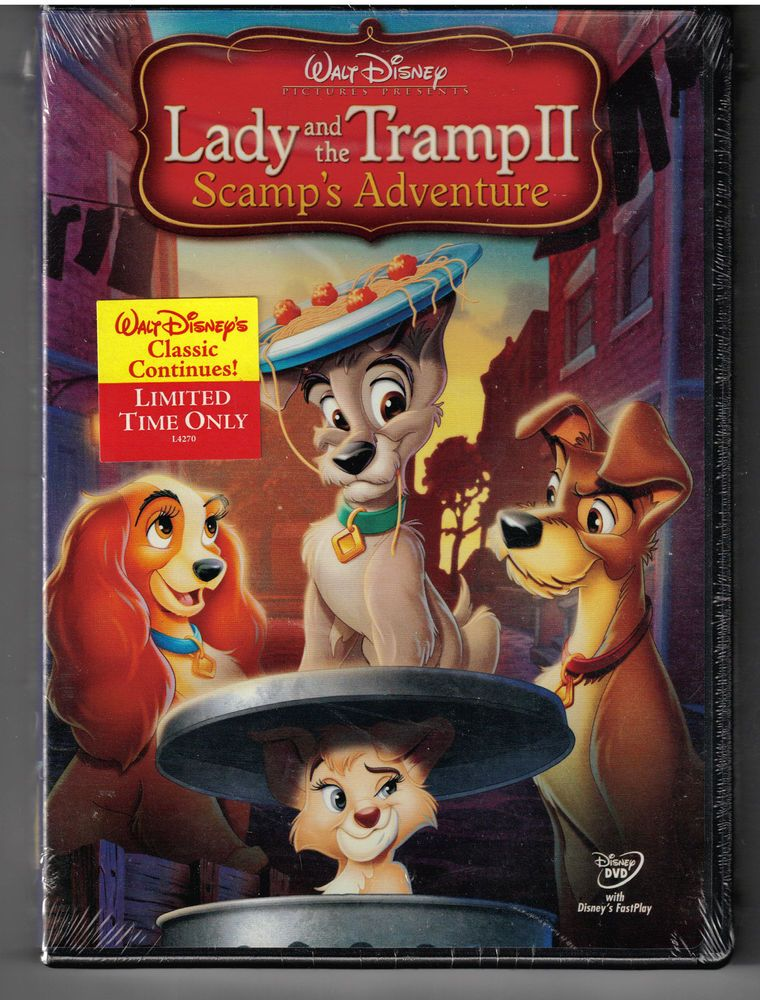 New Arrivals Walt Disney S Lady And The Tramp Ii Scamp S Adventure Dvd Brand New Amp Sealed Lady And The Tramp Walt Disney Pictures Disney Movies