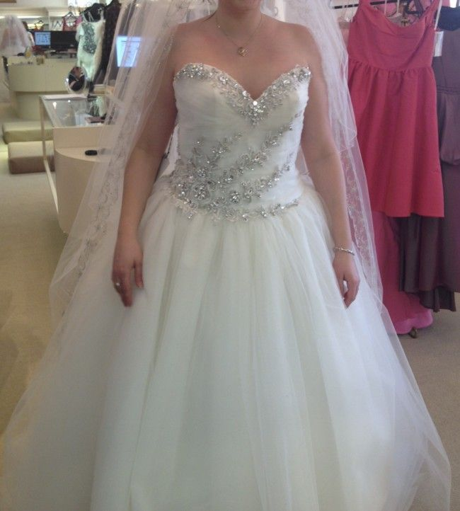 Stephen Yearick - New, 396-133913 Tulle Size 12 Wedding Dress For Sale   Still White