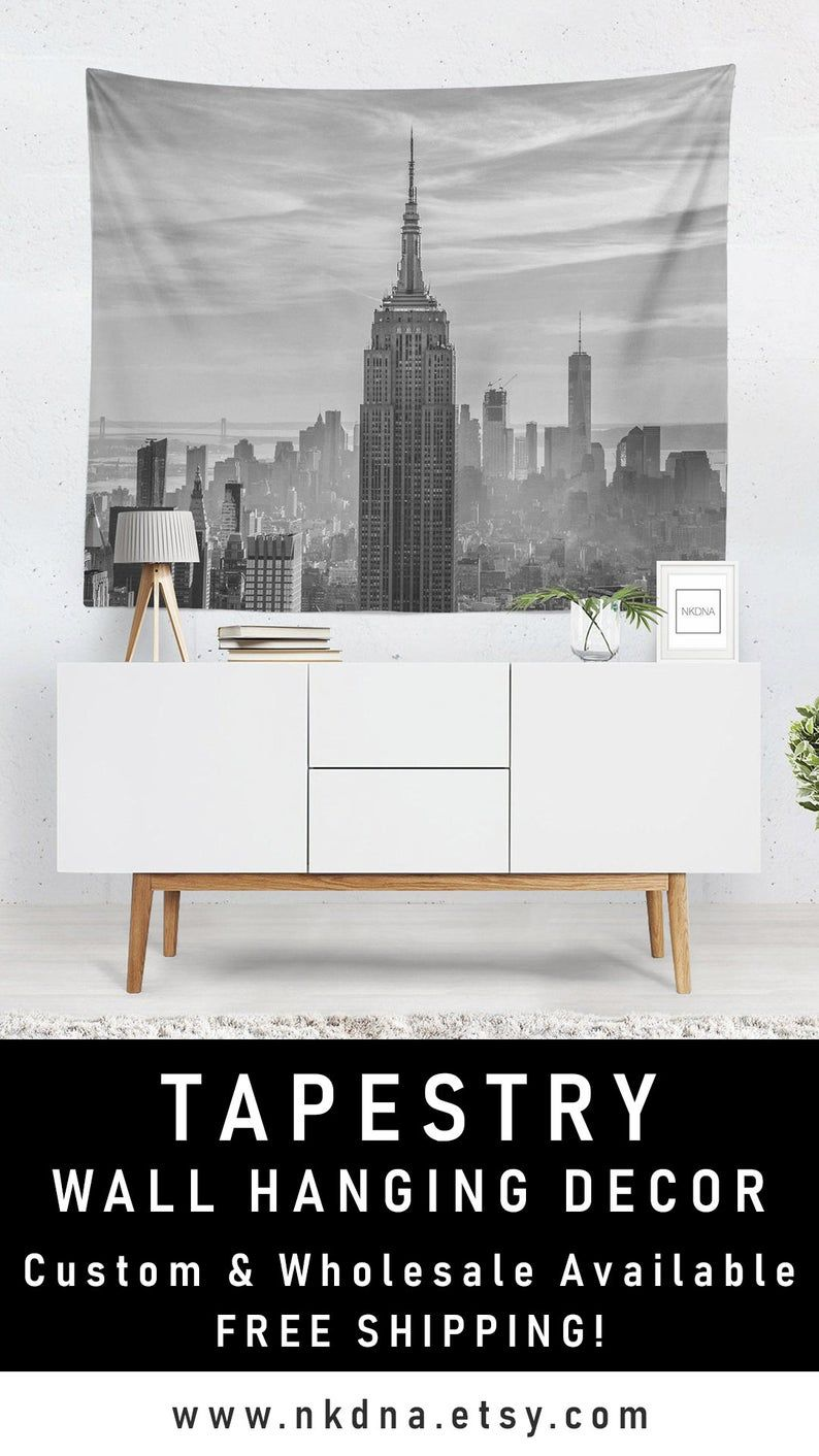 New York City Wall Art Black And White Tapestry Modern Apartment Decor Modern Apartment Decor Tapestry Black White