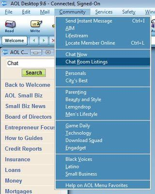 Aol chat rooms listings