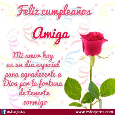 flor rosa cumpleaños amiga | Feliz cumpleaños, Feliz cumpleaños ...
