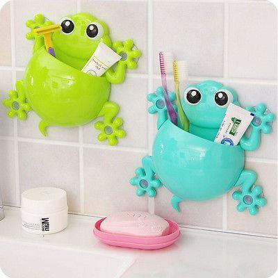 1 Stück Candy Farbe Klettern Frosch Zahnbürstenhalter Zahnpasta - farbe fürs badezimmer