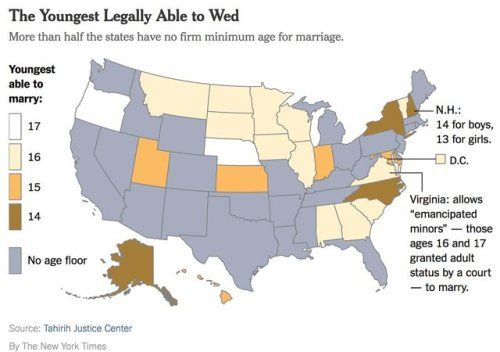 Youngest age of marriage by US state. | Maps | Florida , Map ... on usa politics, usa africa, usa slavery, usa russia, usa new jersey, usa photography, usa north carolina, usa wife, usa english, usa movies, usa man, usa real estate, usa television, usa insurance, usa long island, usa love, usa home, usa housing,