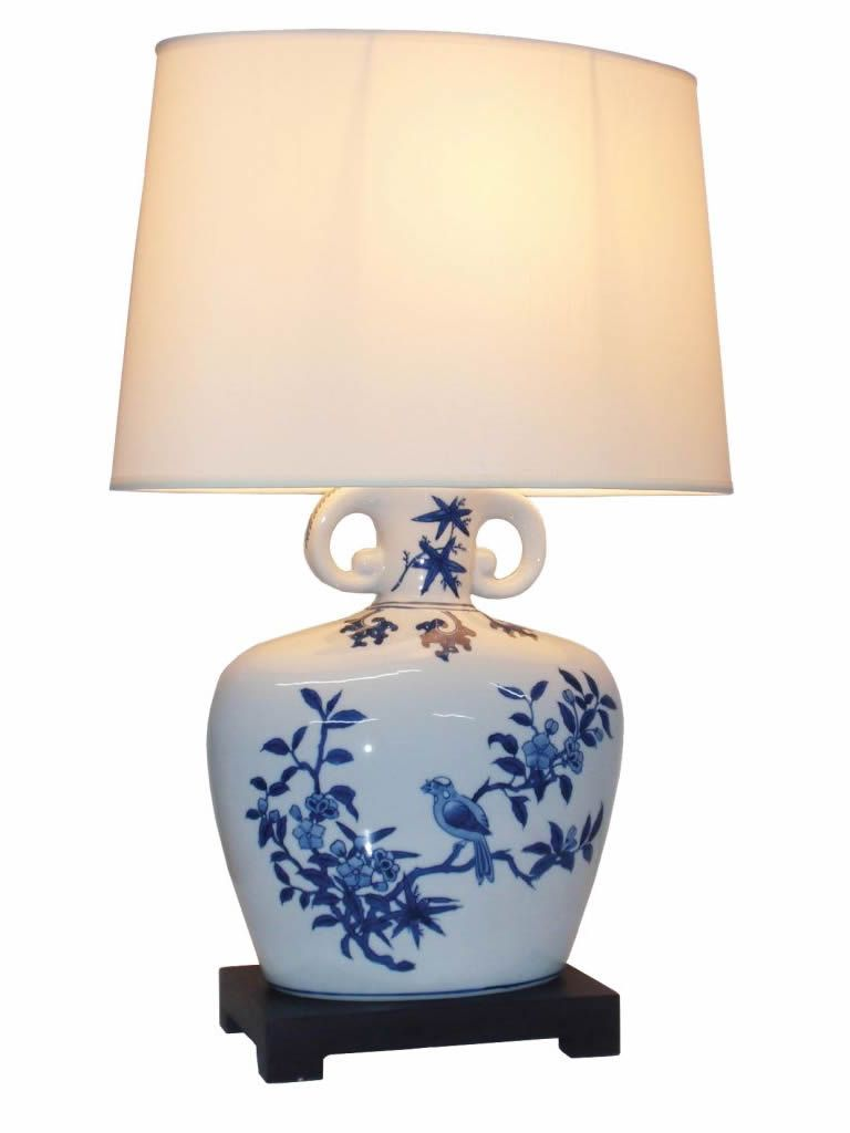 Hai Li Chinese Porcelain Table Lamp Amiska Lamps Porcelain