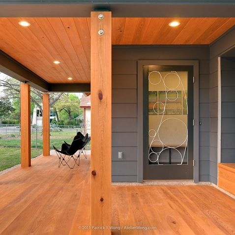Sherwin Williams Peppercorn House Color Modern Porch