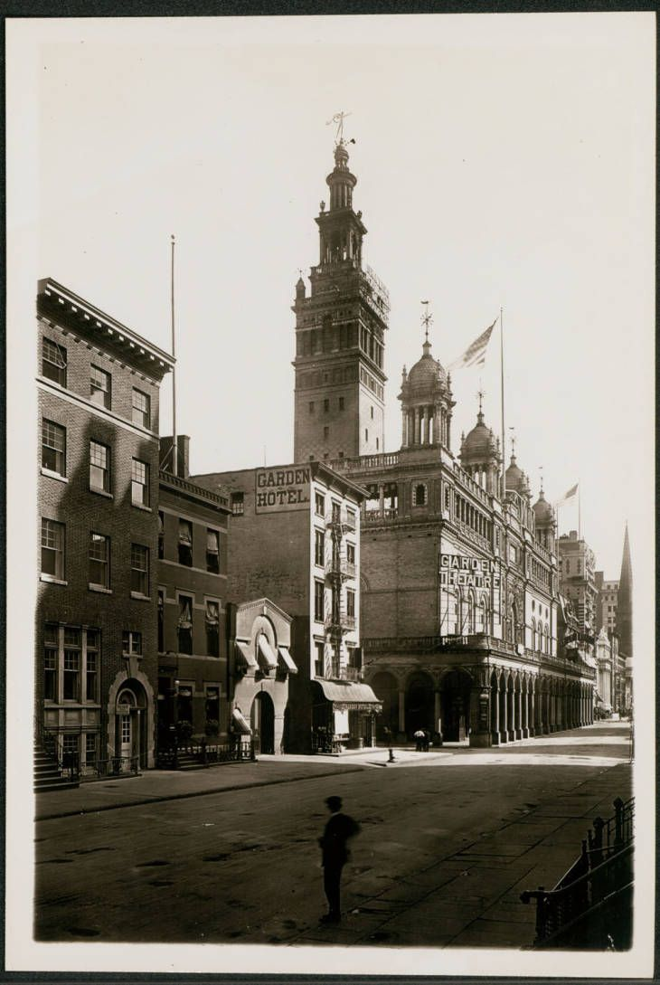 New York City: Madison Square Garden and the Garden Hotel, undated ...