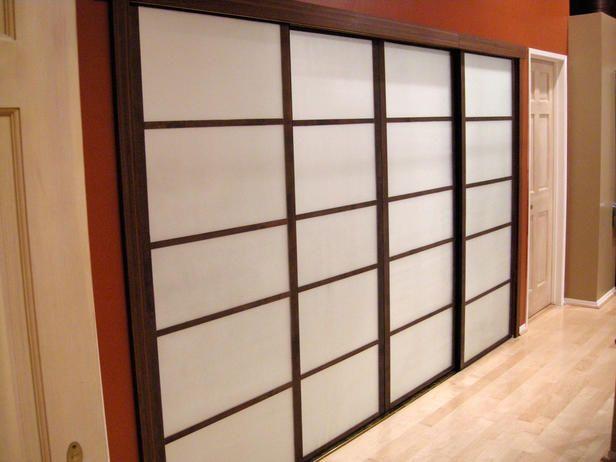 Update Old Closet Doors To Look Like Shoji Screens Old Closet