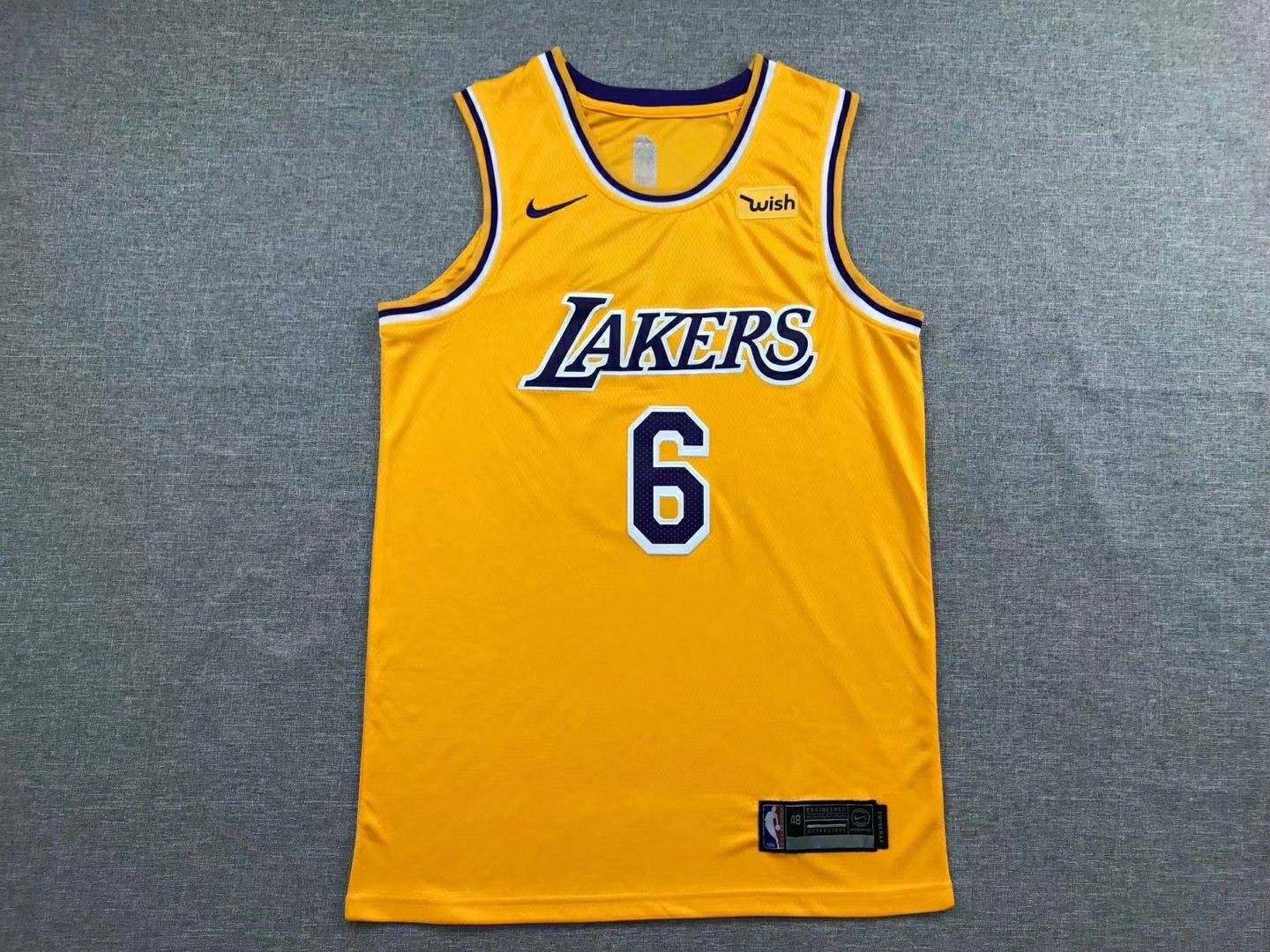 new concept 14805 4d2e4 New LAKERS Lebron James 6 basketball jerseys | basketball ...