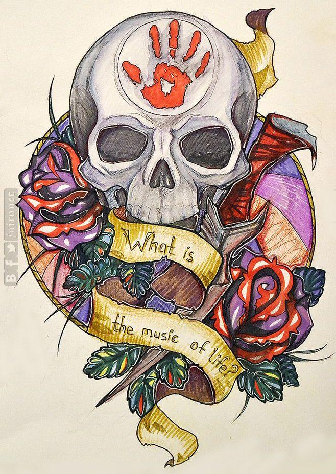 Dark Brotherhood tattoo | | tattoo ideas | Dark ...