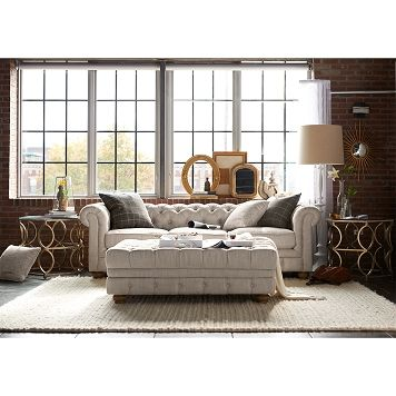 Living Room Furniture-Marquette Beige Sofa Family Room Pinterest