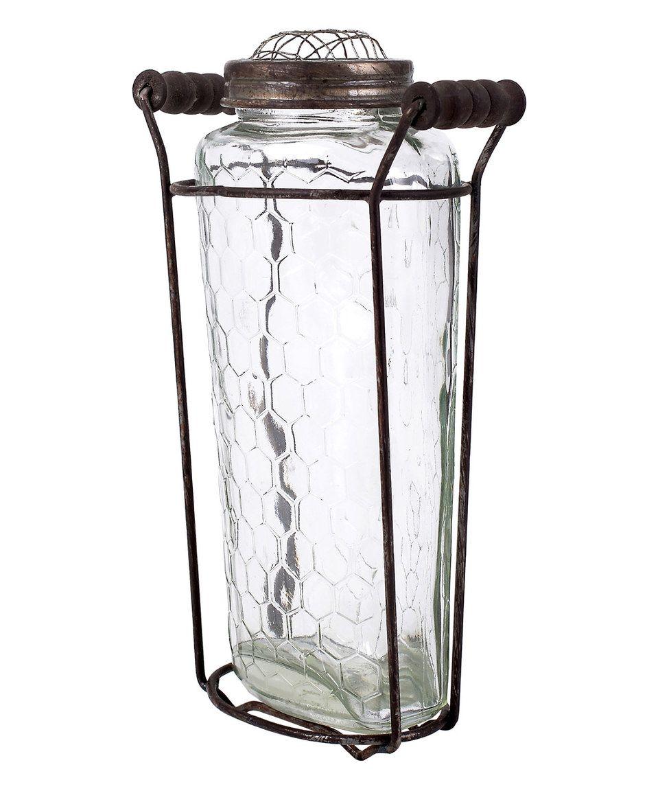 Look At This Zulilyfind Medium Glass Vase Metal Lid 400 x 300