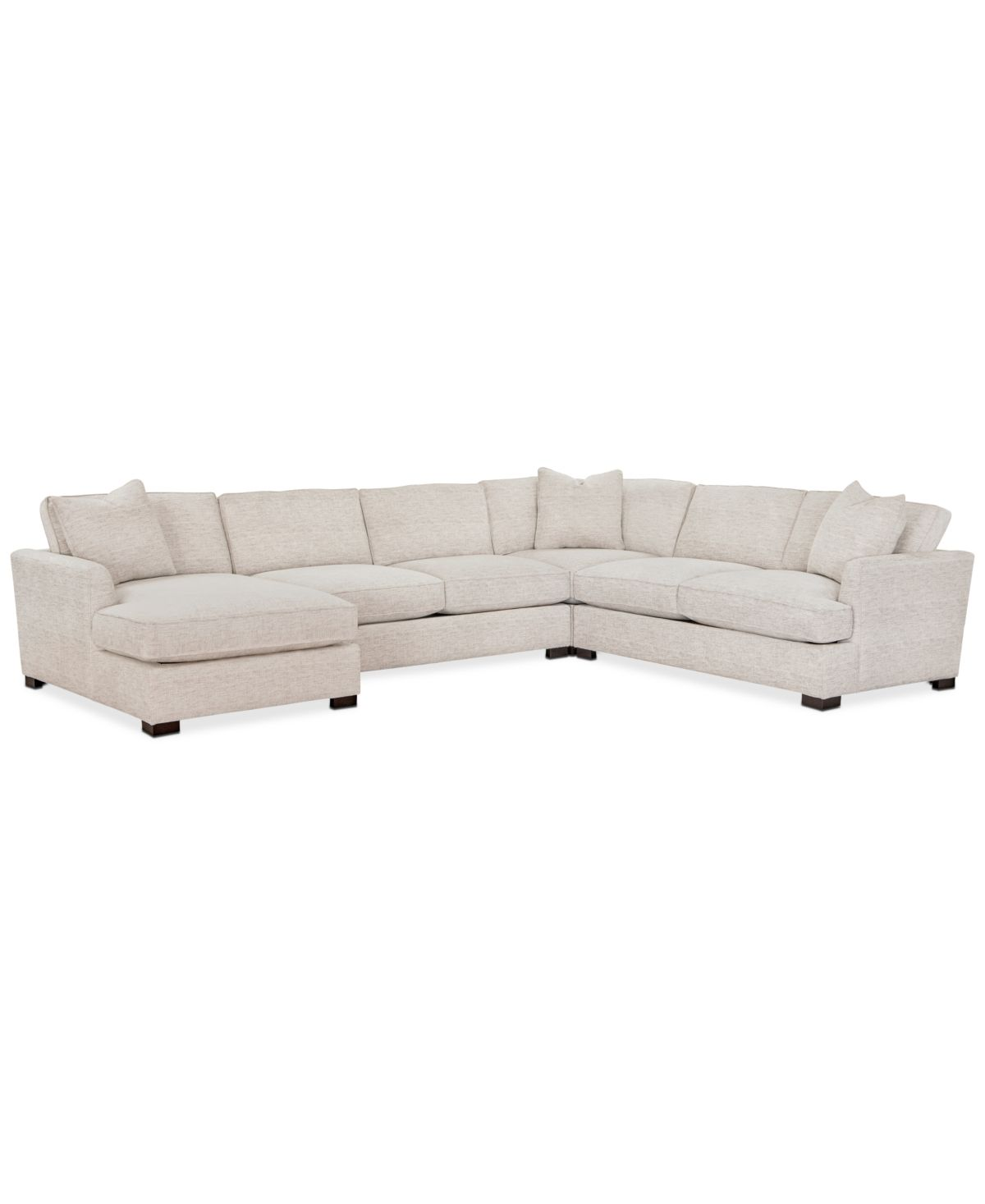 Furniture Juliam 4 Pc Fabric Chaise Sectional Sofa Created For