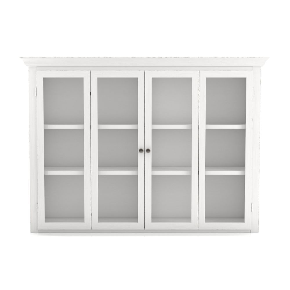 Cameo white modular hutch with glass doors crate and barrel