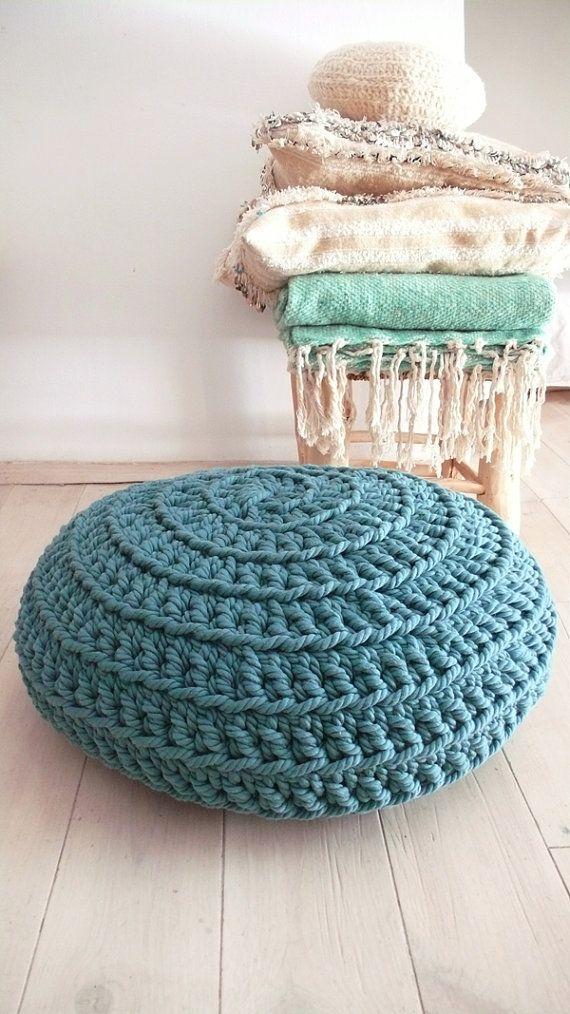 Giant Floor Cushion Crochet por lacasadecoto en Etsy | GANCHILLO ...
