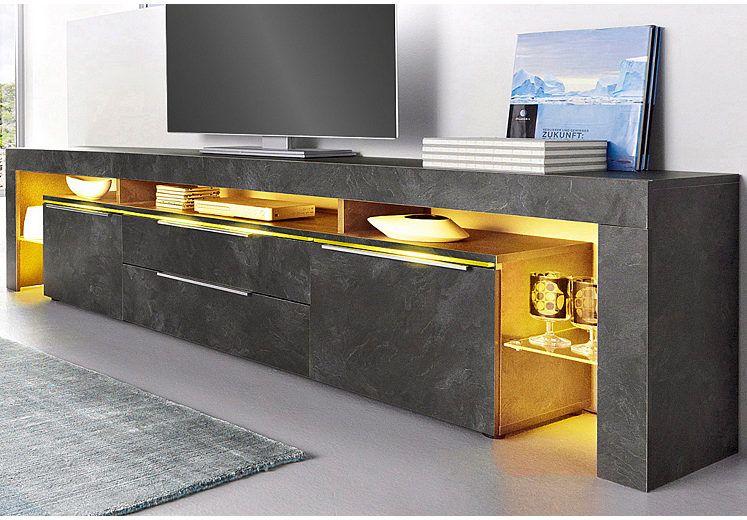 Borchardt Mobel Lowboard Breite 220 Cm Masse B T H 220 35 53 Cm Online Kaufen Otto Lowboard Tv Wandgestaltung Tv Mobel Ideen