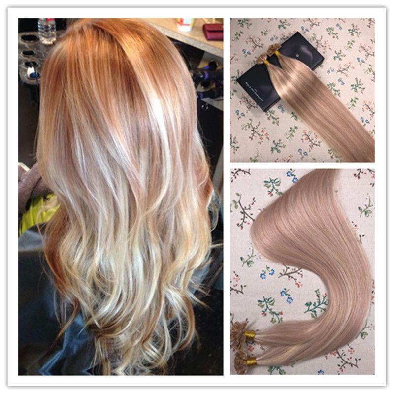 U Tip Keratin Pre Bonded Fusion Remy Human Hair Extensions Ash Brown