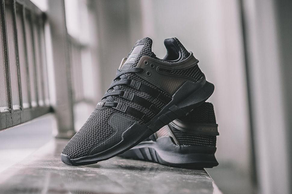 Adidas Eqt Support Adv Triple Black On Feet