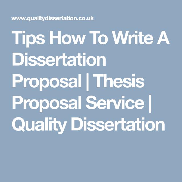 Dissertation help service proposal