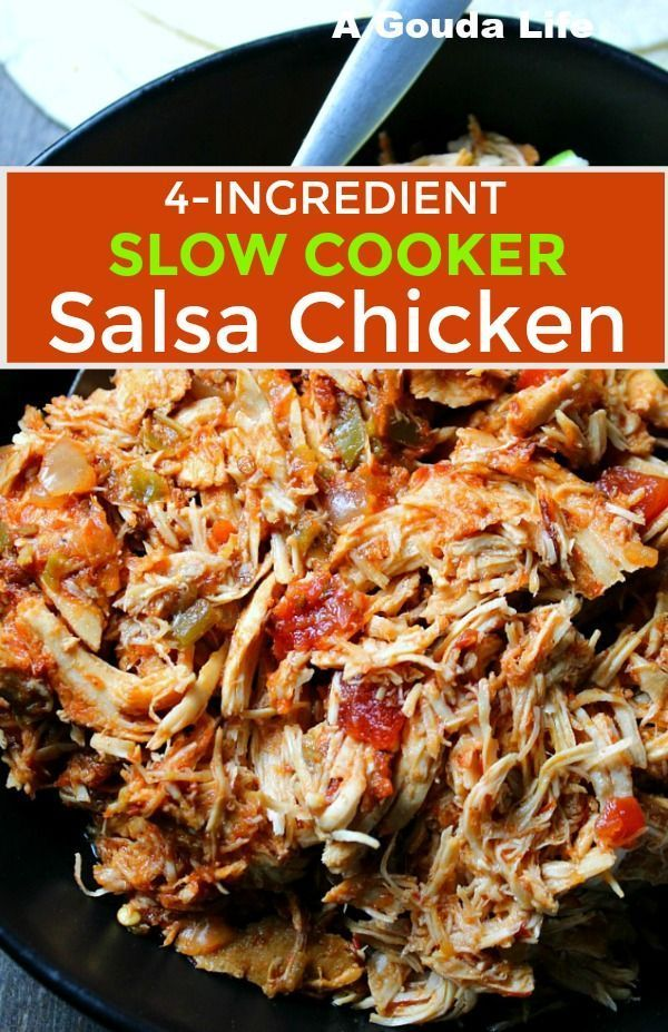 So much amazing flavor with only 4 ingredients and 5 minutes prep! Juicy bold flavored shredded chicken for tacos burritos salads and bowls. #salsachicken #slowcooker #salsachicken #slowcookersalsachicken #chickentacos #tacos  So much amazing flavor with only 4 ingredients and 5 minutes prep! Juicy bold flavored shredded chicken for tacos burritos salads and bowls. #salsachicken #slowcooker #salsachicken #shreddedchickentacos