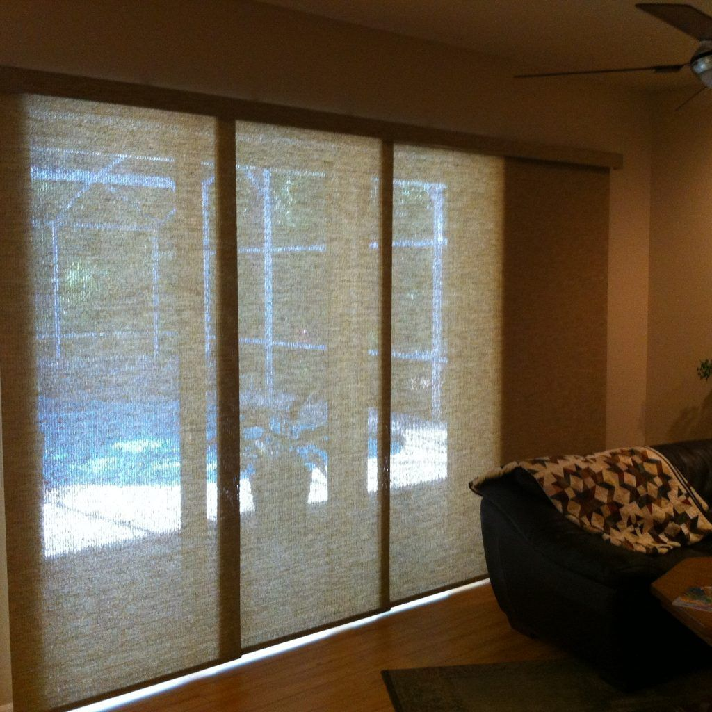 3 Panel Sliding Patio Door With Blinds Door Coverings Sliding