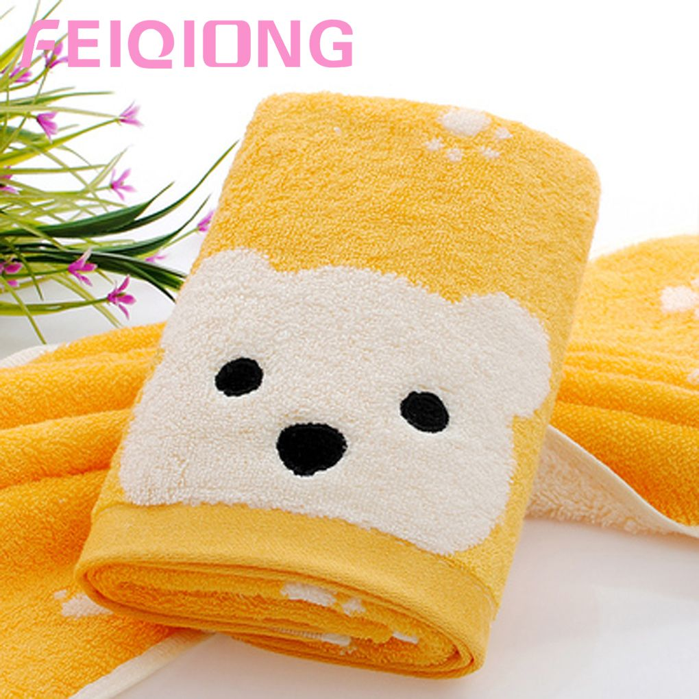 Brand new Animal Printing Face Towels Cotton Soft Big Face Bear Bath Towel For Adults HQ