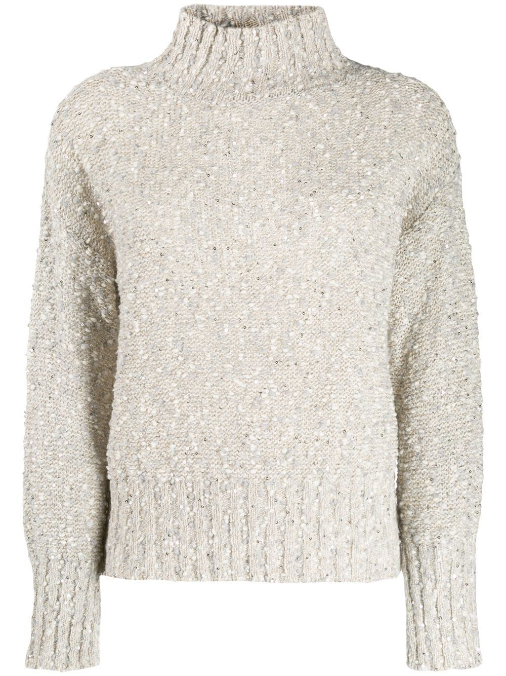Snobby Sheep mottled sequin knit jumper White | Knit