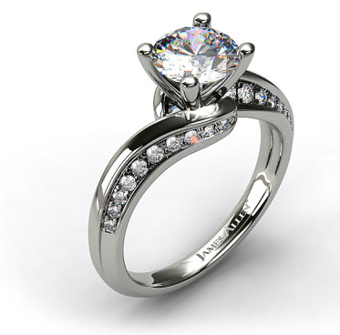 Inspired by antique designs this modernstyle engagement ring