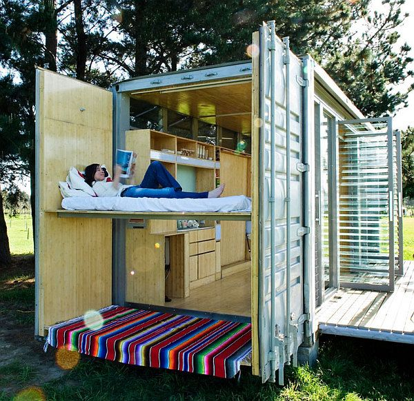 Compact and Sustainable Port-A-Bach Shipping Container Holiday ...