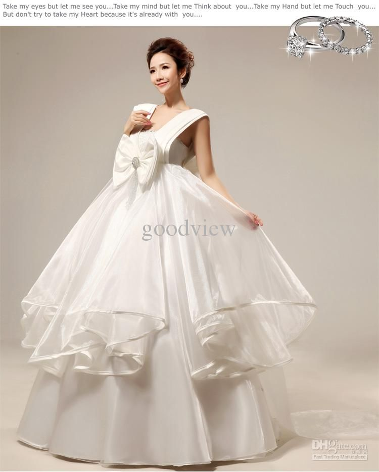 Ivory Silk Lace Maternity Wedding Gown