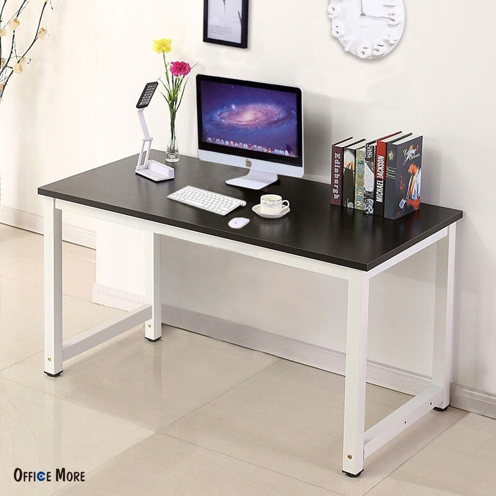 Excellent Details About Wood Computer Desk Pc Laptop Table Workstation Home Interior And Landscaping Palasignezvosmurscom
