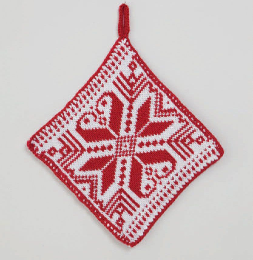 Bjork Christmas Themed Pot Holder Christmas Knitting And Crochet