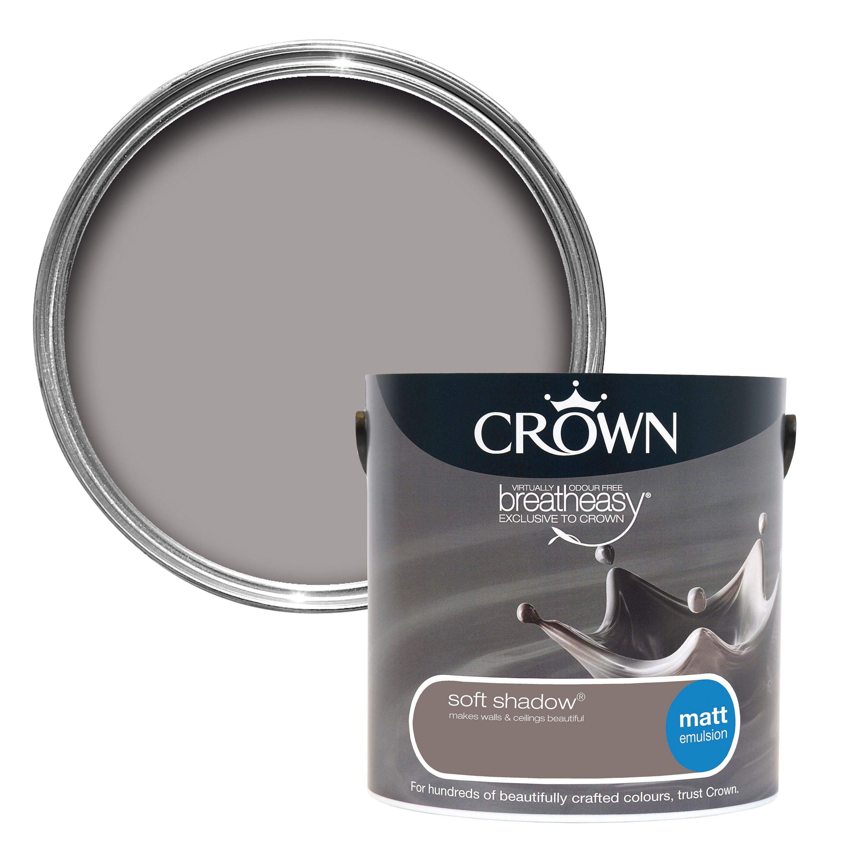 Crown Breatheasy Soft Shadow Matt Emulsion Paint 2 5l Departments Diy At B Q Blue Spray Paint Spray Paint Colors Crown Paint Colours