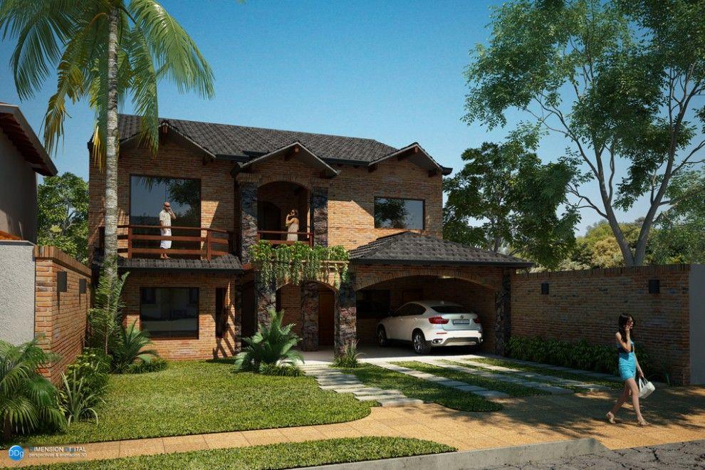 Fachadas de casas en paraguay buscar con google for Modelo de casa quinta en paraguay