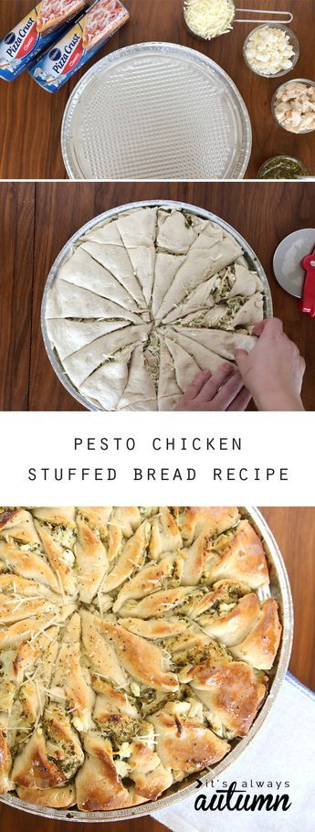 pesto chicken tear & share #tearandsharebread