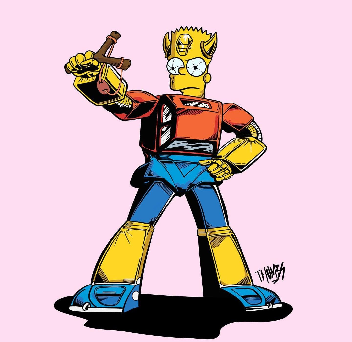 Bart Transformers The Simpsons Transformers Comic 80s Cartoons Transformers Funny