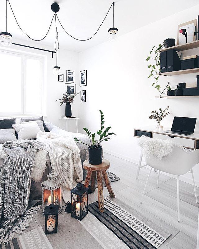 Schlaf und Arbeitszimmer kombiniert (mit Bildern
