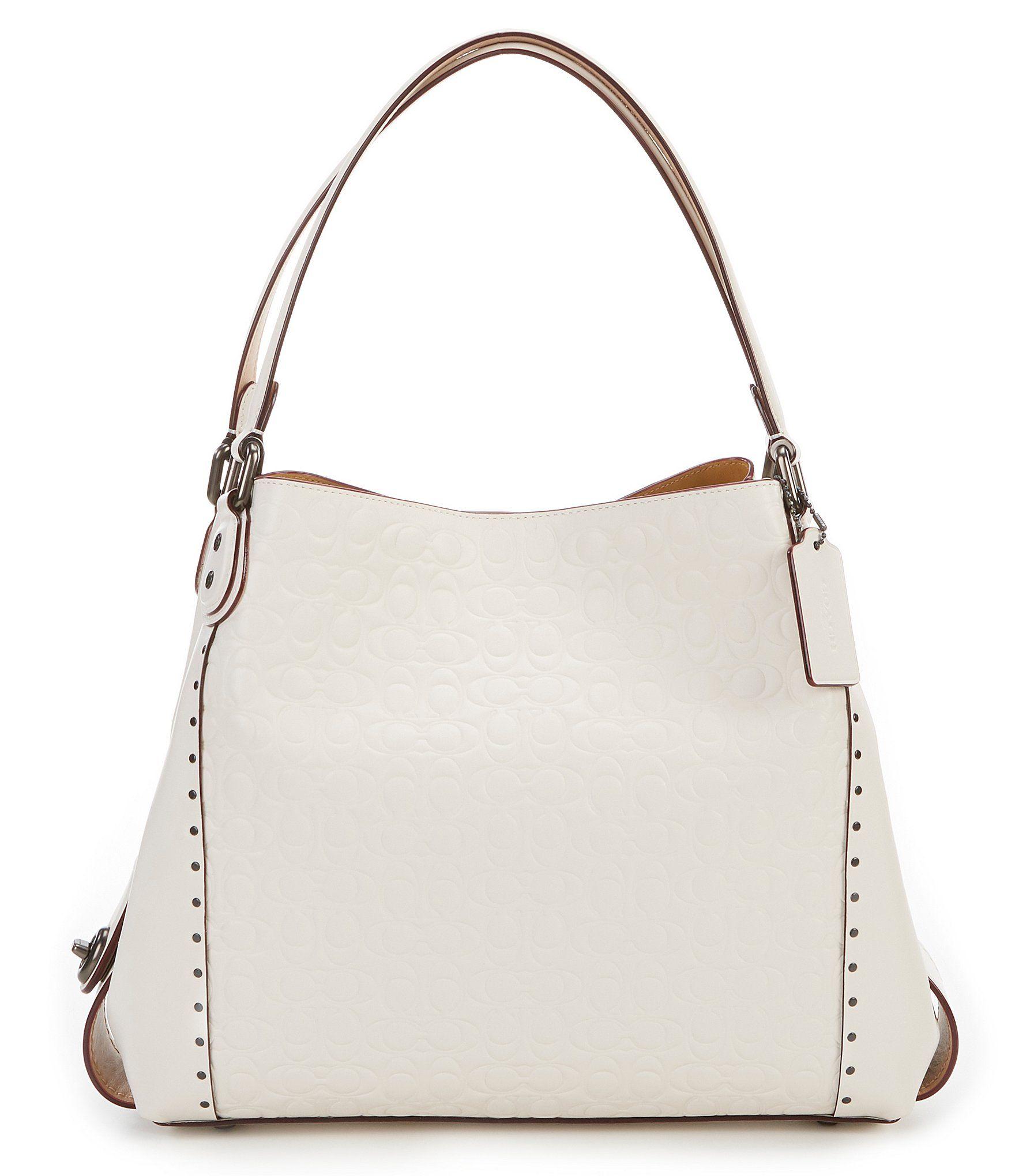 7fd7e637cc6374 COACH SIGNATURE LEATHER EDIE 31 SHOULDER BAG #Dillards Cute Handbags, Coach  Handbags, Dillards