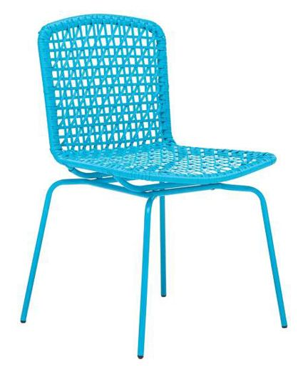 Lamps Plus Modern Outdoor Stackable Aqua Blue Turquoise Chair Woven Pinterest And Es