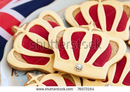 stock photo : Royal wedding cookies