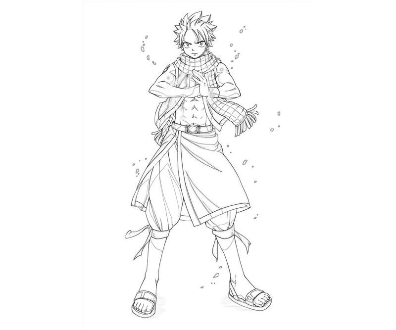 Printable Fairy Tail Natsu Coloring Pages Dessin Coloriage