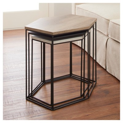Meredith 3pk Hexagonal Accent Tables Project 62 White