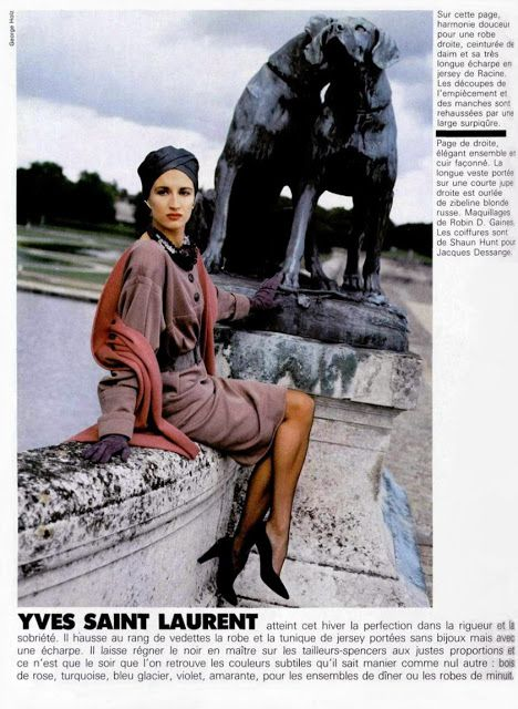 1985 - Violetta Sanchez in YSL by G.Holtz 4 lOfficiel