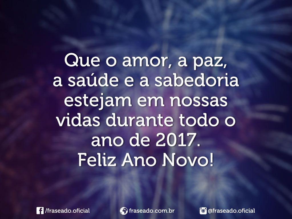 Mensagens De Ano Novo Com Amor: Que O Amor, A Paz, A Saúde E A Sabedoria…