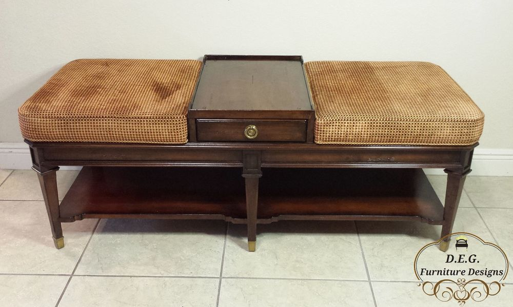 CTH Sherrill Occasional Living Room Ottoman Cocktail Table
