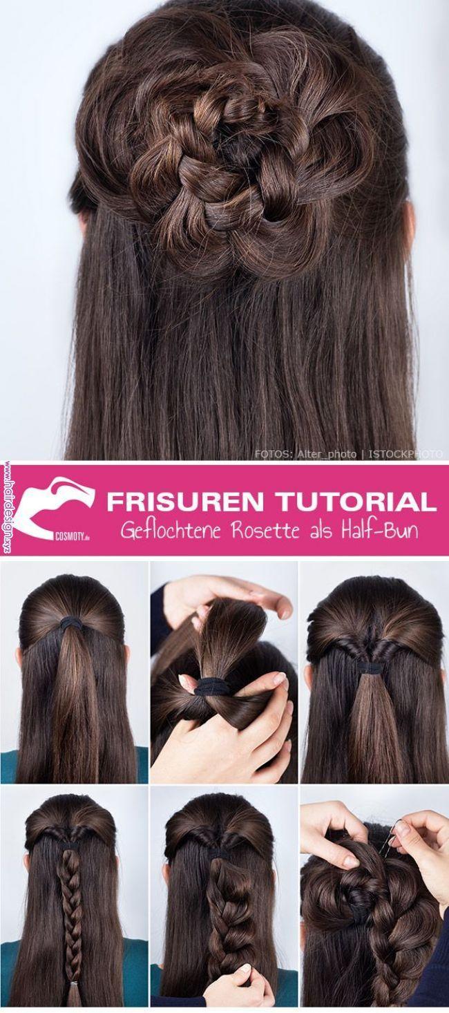 Frisuren Tutorial Wie Sie Die Geflochtene Rosette Kreieren Llll Tipps Und Tricks Rund Um Die Themen Beauty Pfle Hair Styles Hair Tutorial Long Hair Styles